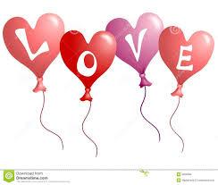 valentine u0027s day love heart shaped balloons royalty free stock