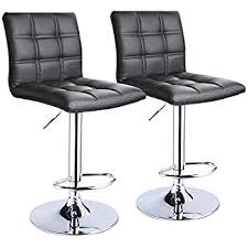Bar Stool With Back Modern Square Pu Leather Adjustable Bar Stools With