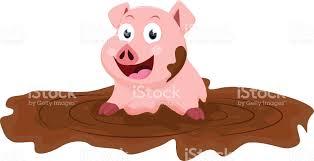 pig mud clip art vector images u0026 illustrations istock