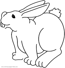 bunny coloring kids bunny