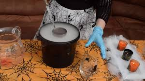 mixing dry ice with diy halloween cocktails for grown ups and