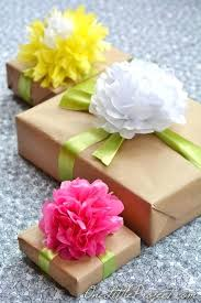 Tissue Paper Gift Wrap - paper to wrap flowers gift wrapping with tissue paper flowers how
