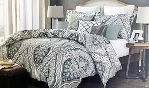 nicole miller bedding 3 piece full queen duvet cover set paisley