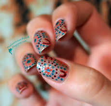 indian ocean polish aboriginal dotted nail art