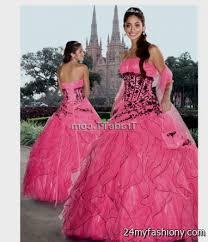 Pink And Black Bridesmaid Dresses Pink Black And White Wedding Dresses 2016 2017 B2b Fashion