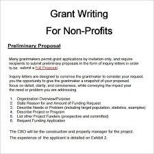 non profit proposal template sample non profit grant proposal