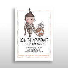 Star Wars Room Decor Etsy by Customized Printable Star Wars Invitations Star Wars