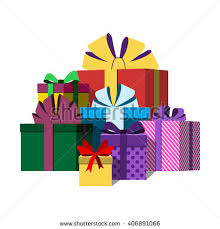 wrapped gift boxes big pile colorful wrapped gift boxes stock vector 614088248