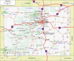 colorado physical map colorado maps and state information