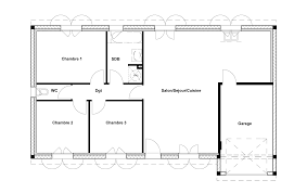 plan maison rdc 3 chambres plan maison plain pied trois chambres rdc 3 newsindo co