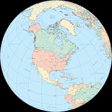 North America Continent Map by North America Globe U2022 Mapsof Net
