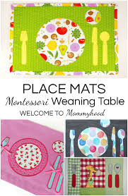 montessori placemats for a montessori weaning table