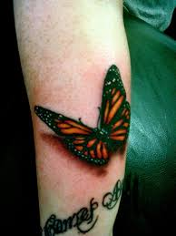 monarch butterfly on wrist 3d butterfly tattoos on