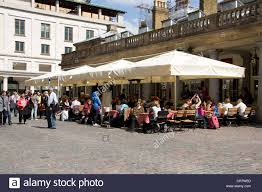 Family Restaurants In Covent Garden Alfresco Dining Restaurant Covent Garden Stock Photo Royalty Free