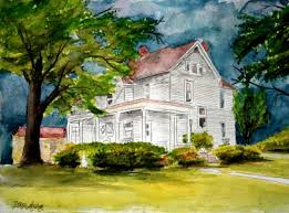 house drawings watercolor house paintings and drawings