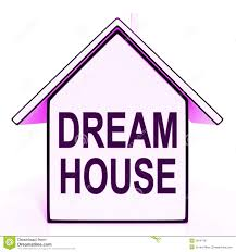 dream house home means perfect for family royalty free stock