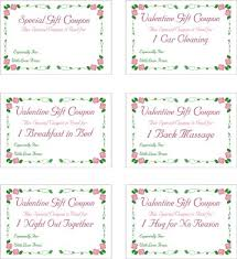 printable romantic gift certificates free printable valentine love coupons