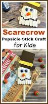 scarecrow popsicle stick craft for kids popsicle stick crafts