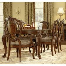 a r t furniture old world 7 piece leg dining set cathedral