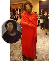 botched restoration of jesus has become no 1 halloween costume