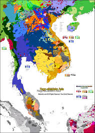 Southeastern Asia Map by Southeast Asia Carte Linguistique Linguistic Map