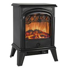 1500w free standing electric fireplace heater fire stove flame