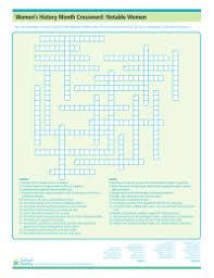 women u0027s history month notable women crossword puzzle schoolfamily