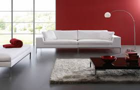 contemporary sofa leather 2 seater white si t 114jus