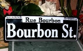 bourbon sign bourbon embossed metal sign for sale