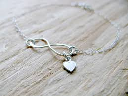 personalized silver gifts personalized silver infinity heart bracelet 925 sterling silver