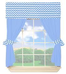 baby doll bedding chevron valance curtain set blue modern