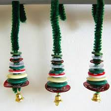 handmade decorations miniature button tree ornaments