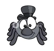 male funny cartoon spider halloween vector illustration royalty