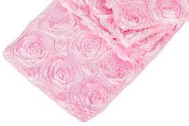pink rosette table runner wedding rosette satin table runner medium pink at cv linens cv linens