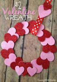 Valentines Decorations Diy Pinterest by Valentine U0027s Day Wreath They Do It With Wooden Hearts But I Might