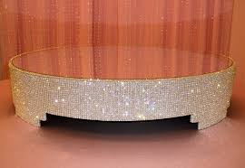 bling cake stand cake stand with crystals antique gold mirror top 8 1 2x10