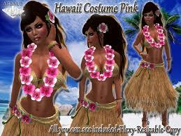 Hula Halloween Costume Marketplace Hawaii Hula Costume Pink