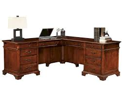 Executive L Desk by Weathered Cherry Executive L Desk By Hekman He 79277