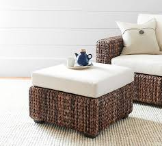 Seagrass Storage Ottoman Seagrass Square Ottoman Pottery Barn