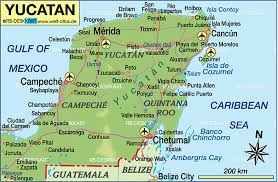 map of mexico yucatan region map of yucatan mexico map in the atlas of the world world atlas