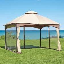 Covered Gazebos For Patios Massillon 10 Ft X 12 Ft Double Roof Gazebo L Gz933pst The Home
