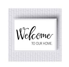 printable home decor welcome to our home digial printable print home decor