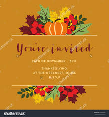 thanksgiving invitation card templates happy thanksgiving