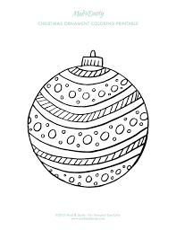 ornament coloring pages mad dusty