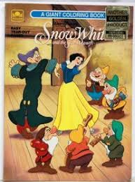 snow white dwarfs coloring book golden books