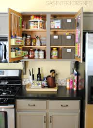 How To Decorate A Kitchen Counter by Kitchen Organization Ideas For The Inside Of The Cabinet Doors