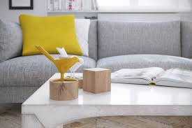 Grey Living Room With Yellow Accent Wall Mellow Yellow 7 Soothing Apartments With Sunny Accents