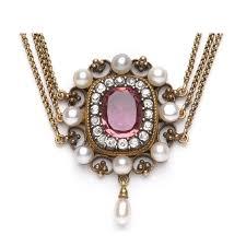 diamond pearl necklace images Antique tourmaline necklace antique jewelry trumpet horn jpg