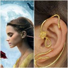 cuff earrings beauty and the beast earrings ear cuff jewelry gold