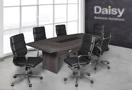 Black Boardroom Table Pearl Boardroom Table Cadbury Oak Alaska Black Chairs